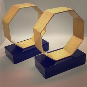 Gold Dean Bookends- Gold Octagonal book ends